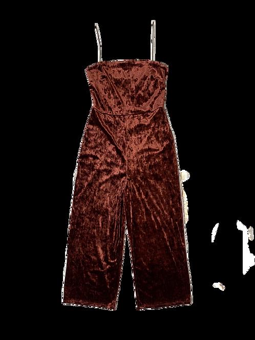 Dynamite burgundyvelvet jumpsuit