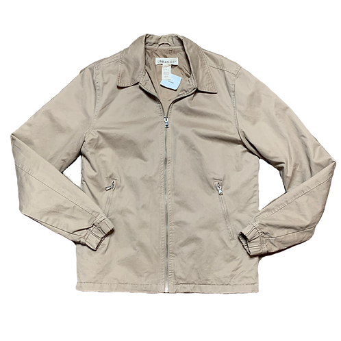 Tan zip light jacket