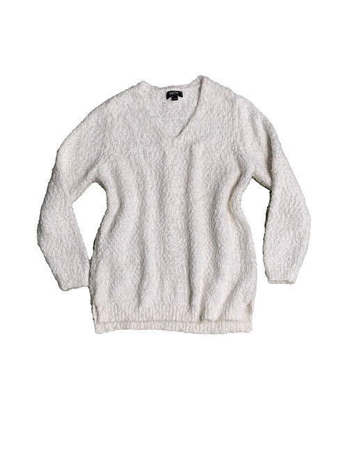 Reaction by Kenneth Cole white fluffy sweater