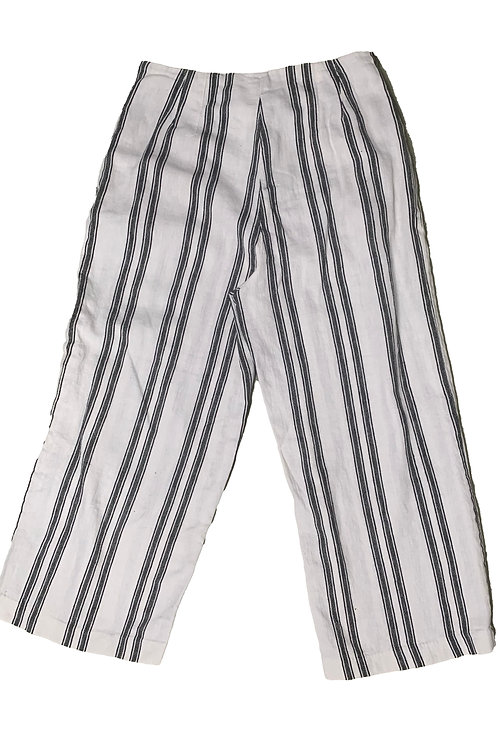 Dymanite black and white striped trousers
