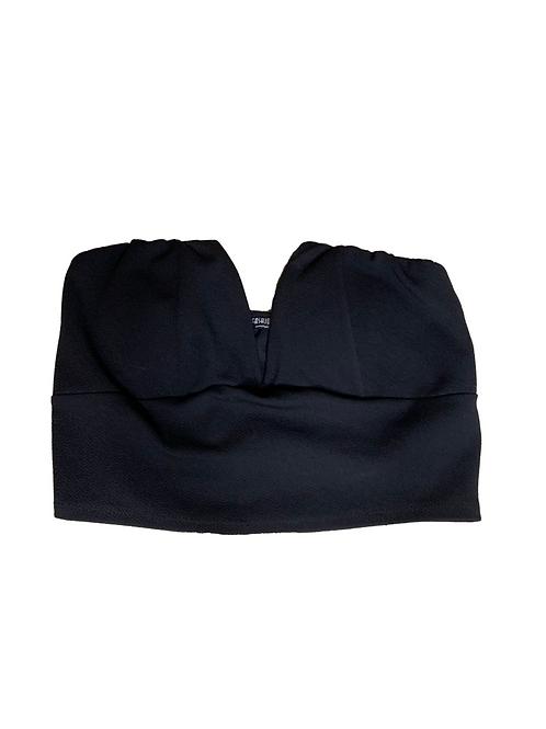 Fashion Nova black v-neck tube top