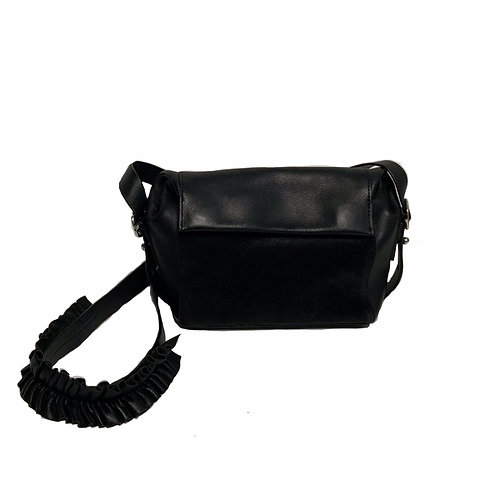 All Saints black leather & suede crossbody bag