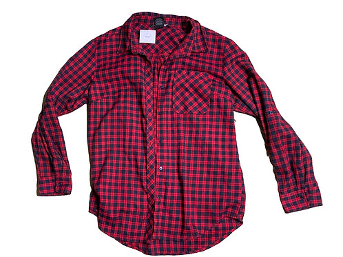 Streetwear Society red and blue flannel