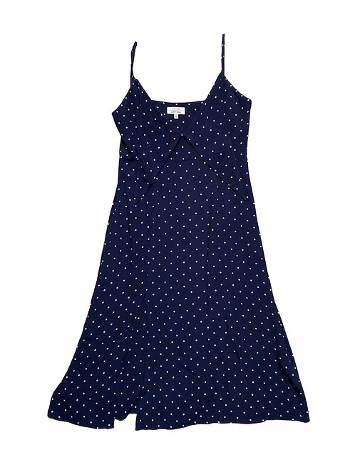 Paris Atelier & other stories navy polka dot dress