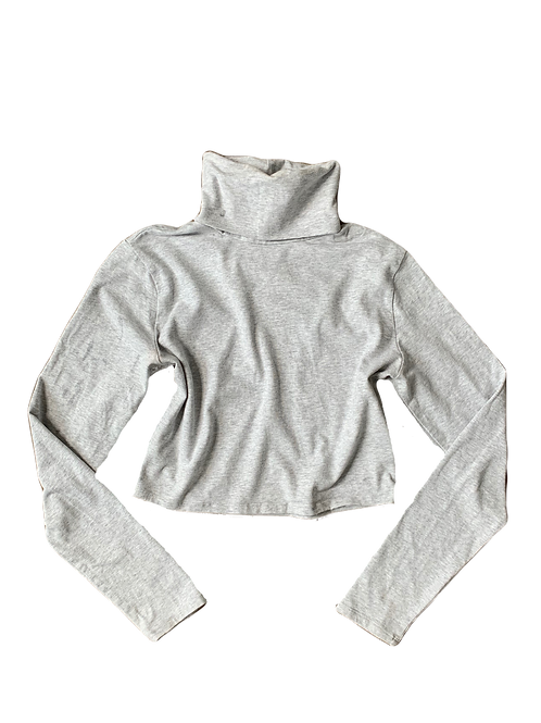 Garage crop long sleeve turtleneck