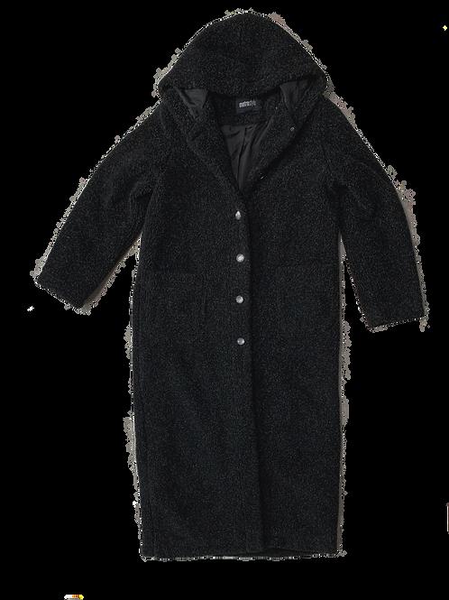 Salt + pepper teddy bear coat