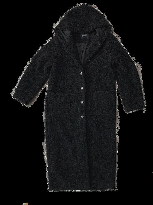 Metro salt + pepper teddy bear coat
