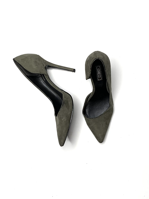 Guess suede green pumps