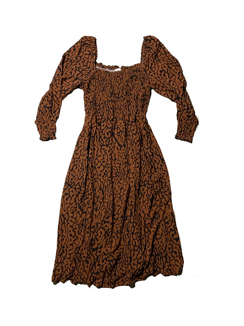 H&M brown patterned maxi dress