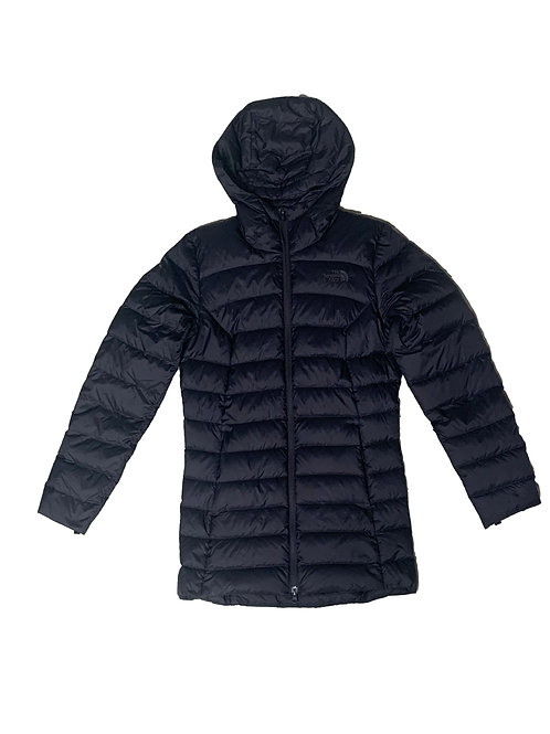 The Northface black long puffer jacket (light)