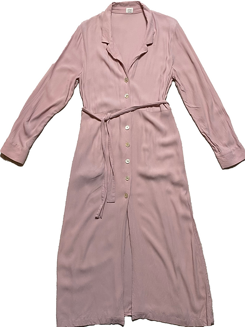 Wilfred pink button down longsleeve dress