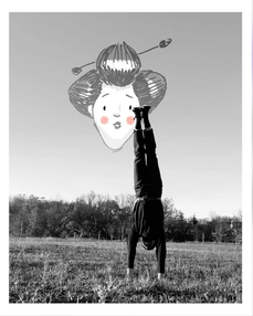 Handstand Handfan