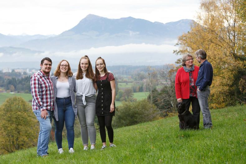 Familienfotografie – kreative Anordnung