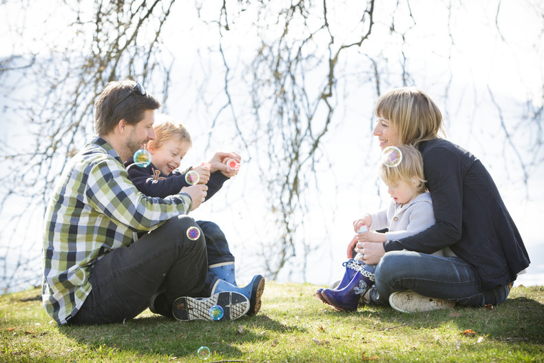 Familienfotografie – Park Villa Villette