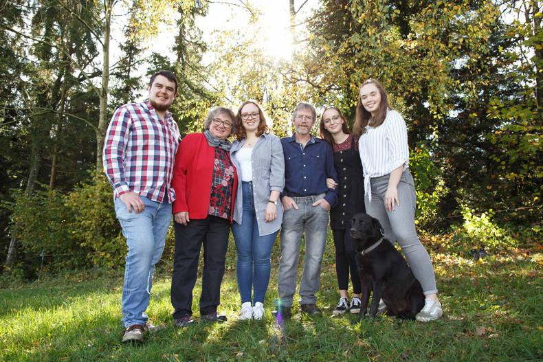 Familienfotografie in der freien Natur