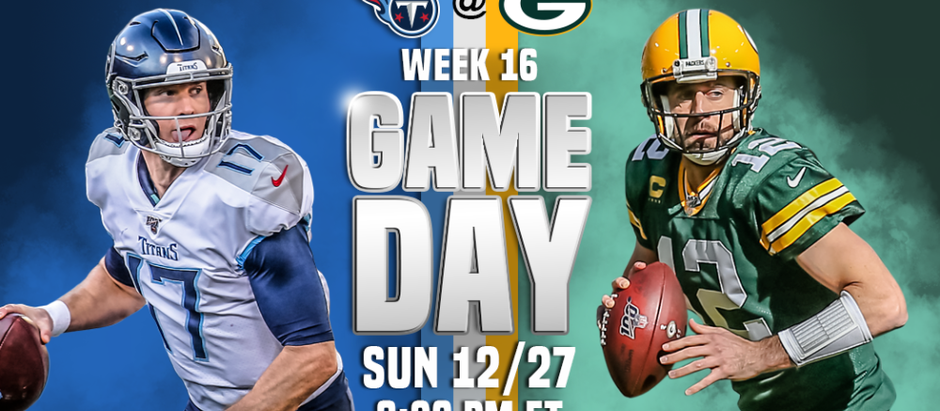 Sunday Night Football Fun - Tennessee Titans @ Green Bay Packers