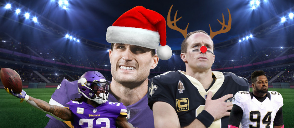 Saints vs Vikings NFL Game Christmas Special Odds, Pick, and Preview!