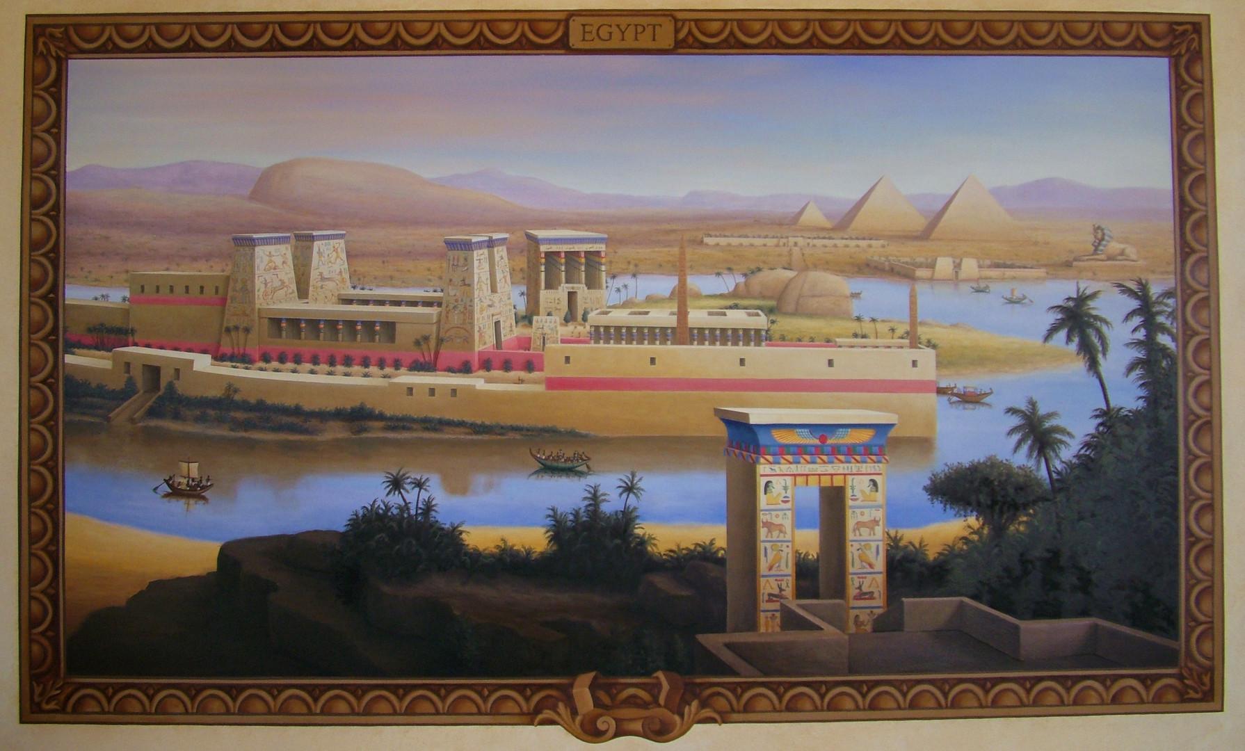 The Four Empires Mural Egyptian Landscape