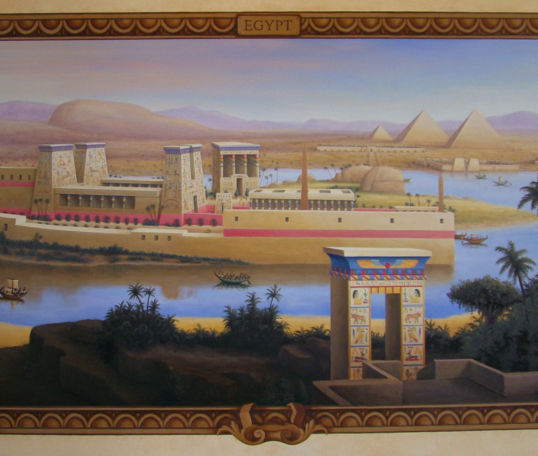 The Four Empires Mural Egyptian Landscape