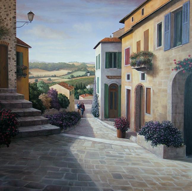 Tuscan Village and Landscape