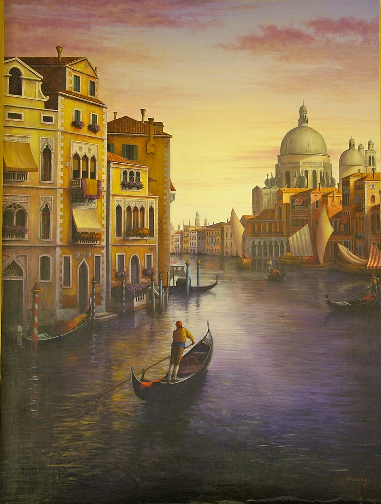 Venetian Canal Scene