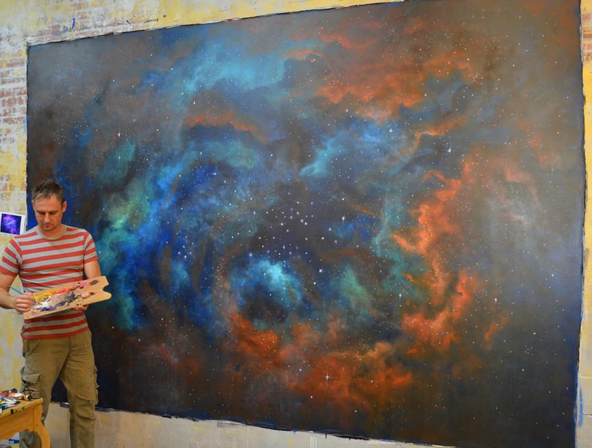 Nebula Mural In Progress