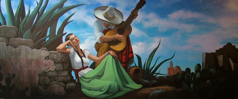 Serenade Scene, after Jesus Helguera
