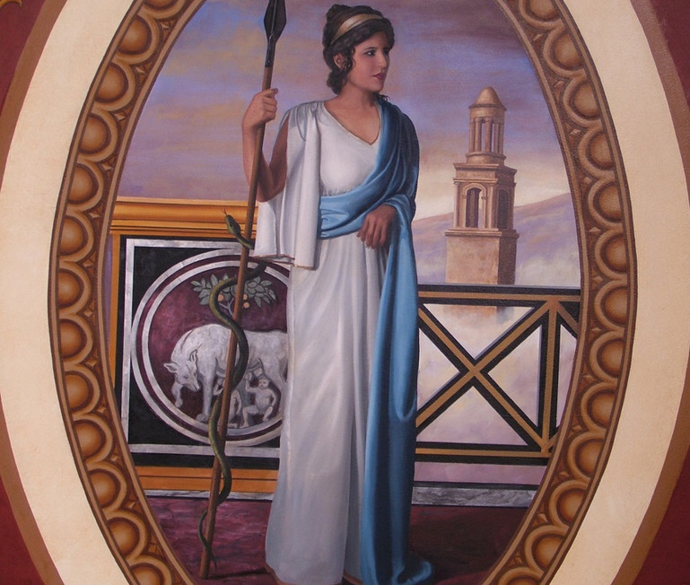 The Four Empires Mural Roman Woman
