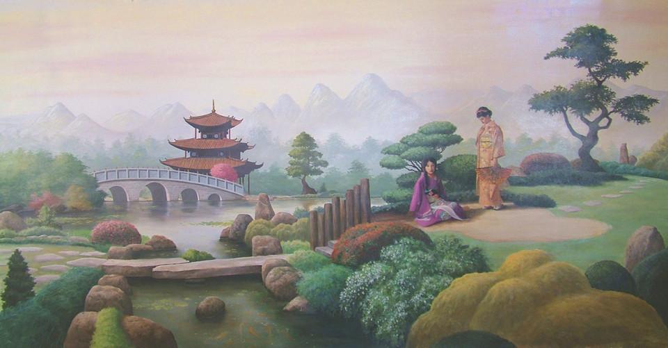 Asian Garden Scene 2