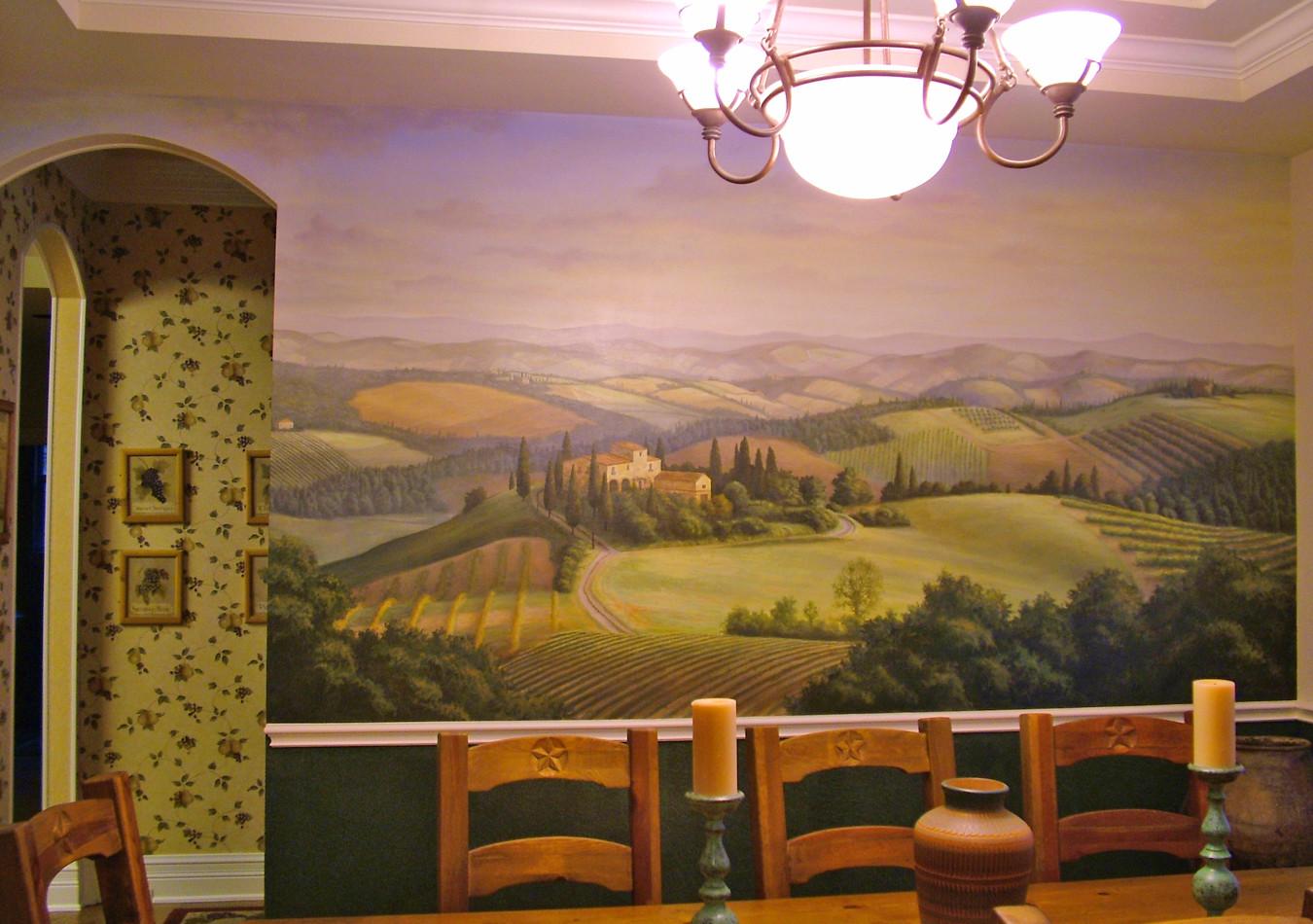 Tuscan Scene Mural