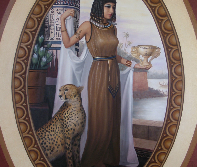 The Four Empires Mural Egyptian Woman
