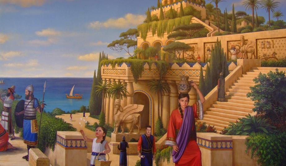 The Arrival of Queen Semiramis in Babylon Detail