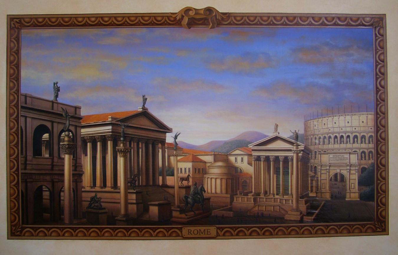 The Four Empires Mural Roman Landscape