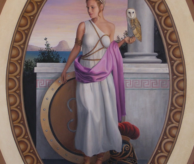 The Four Empires Mural Greek Woman