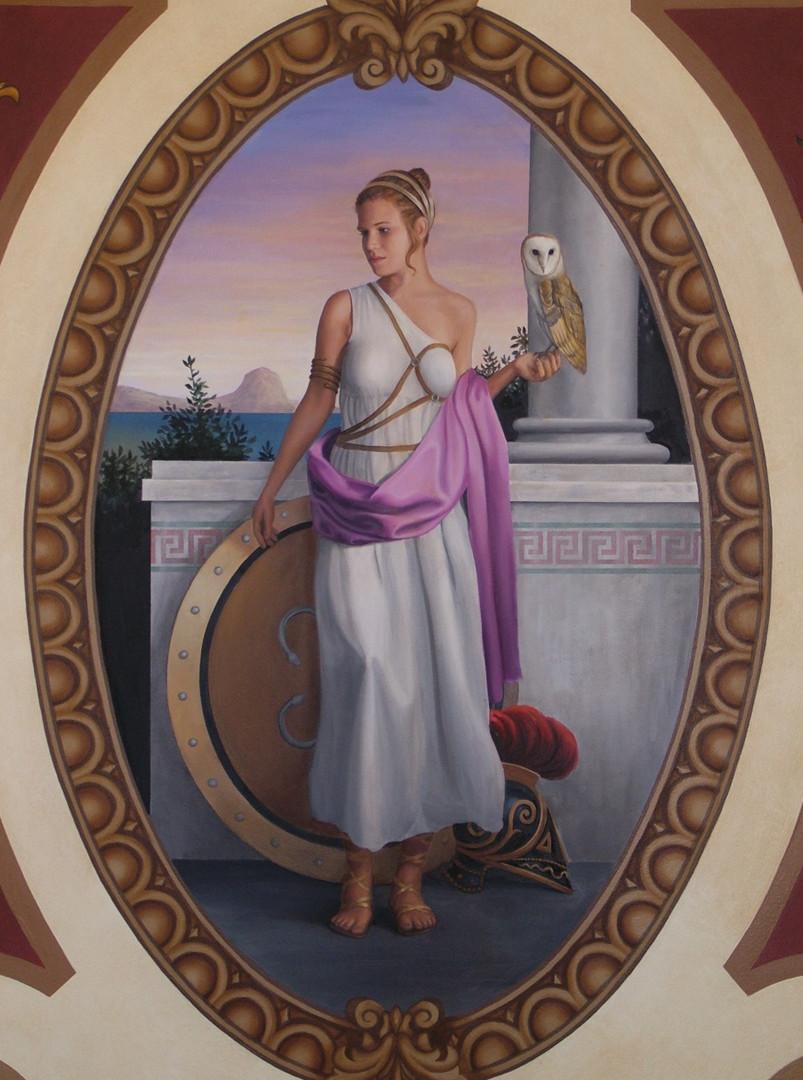The Four Empires Mural Greek Woman