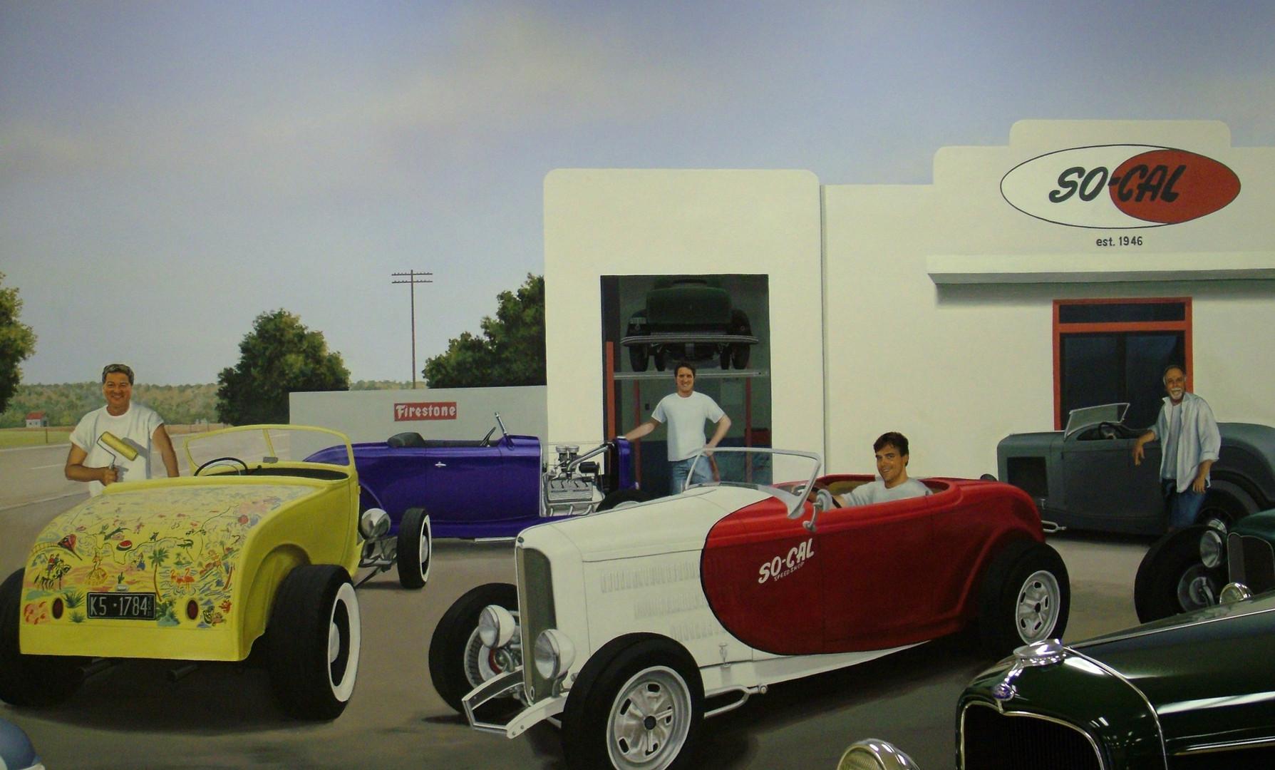 Car Museum Wall Detail