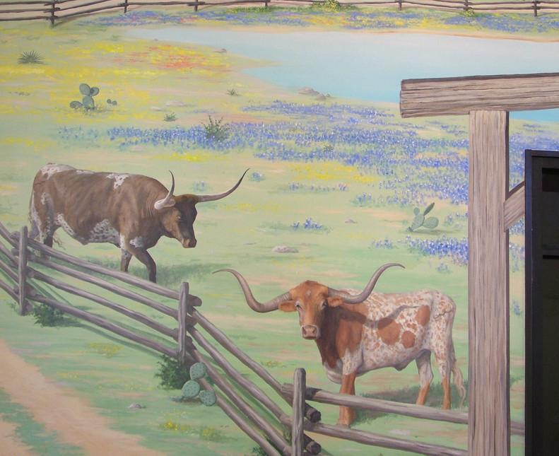 Detail of Longhorns