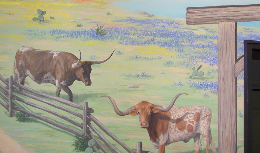 Detail of Longhorns