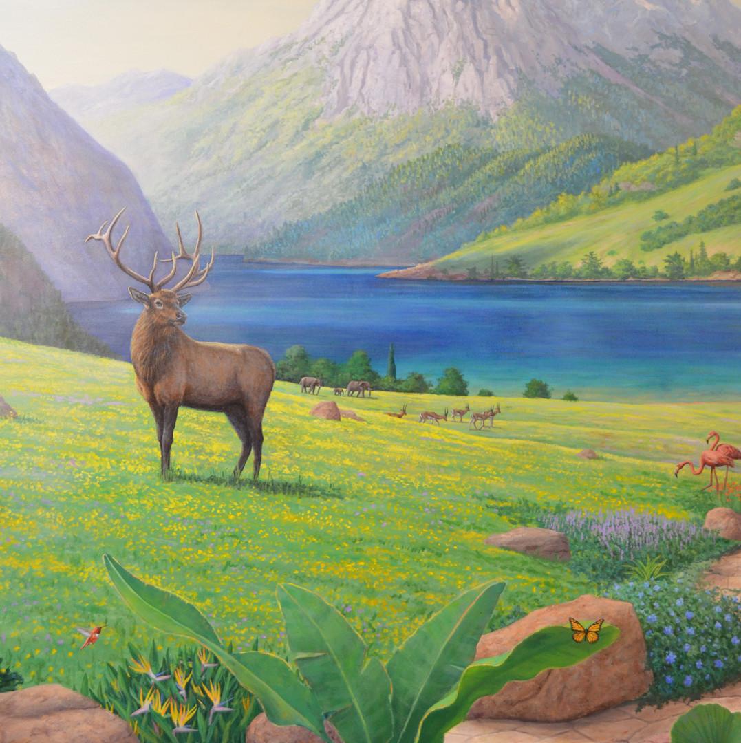 Detail of Paradise Mural