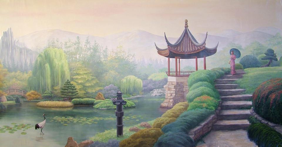 Asian Garden Scene