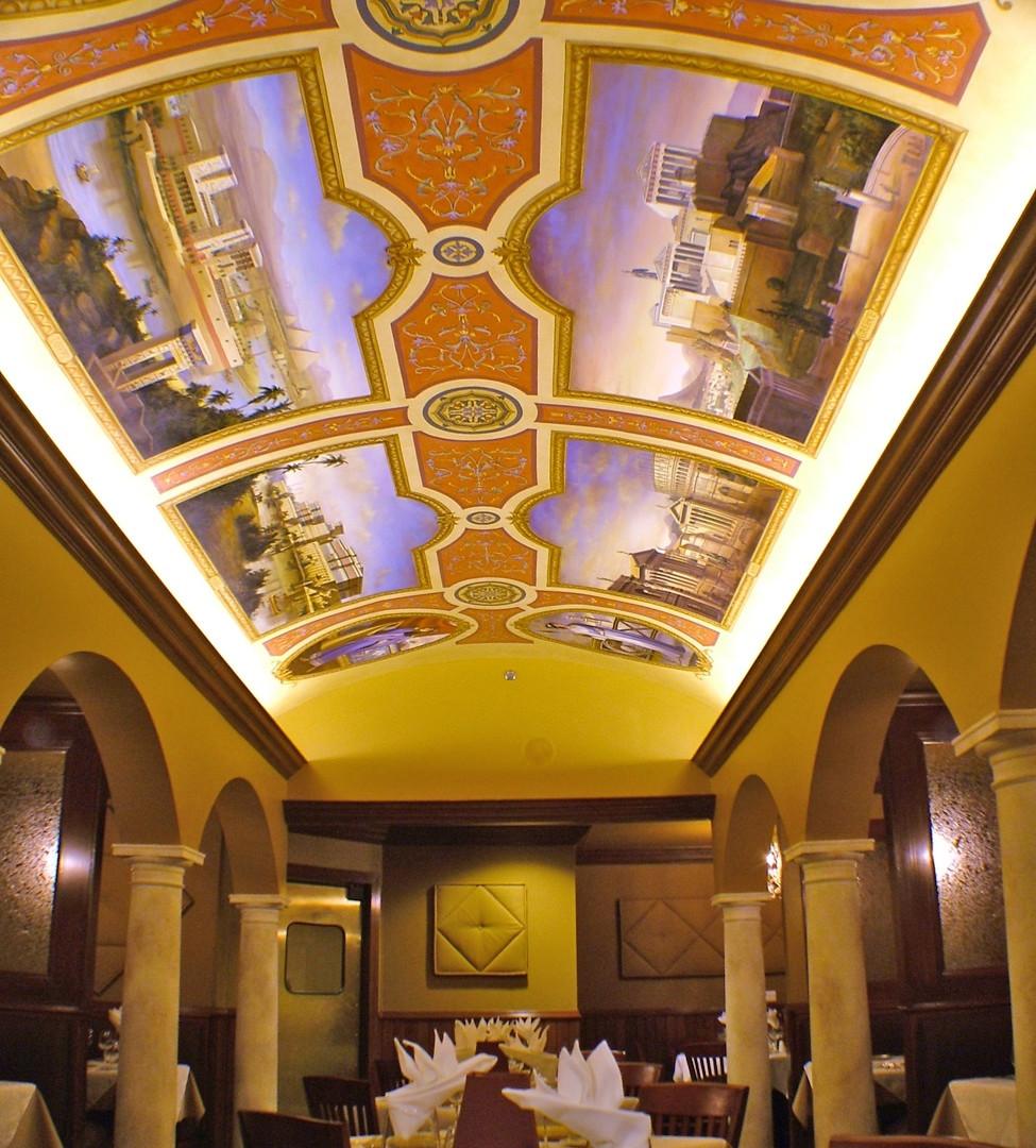 The Four Empires Mural Ceiling Full Length