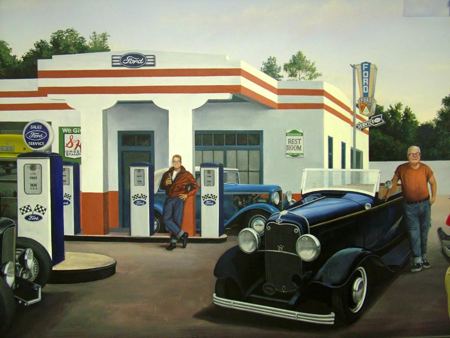 Car Museum Gas Pumps