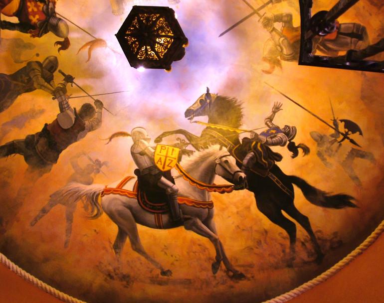 Spanish Medieval Scene Mural Horse Detail