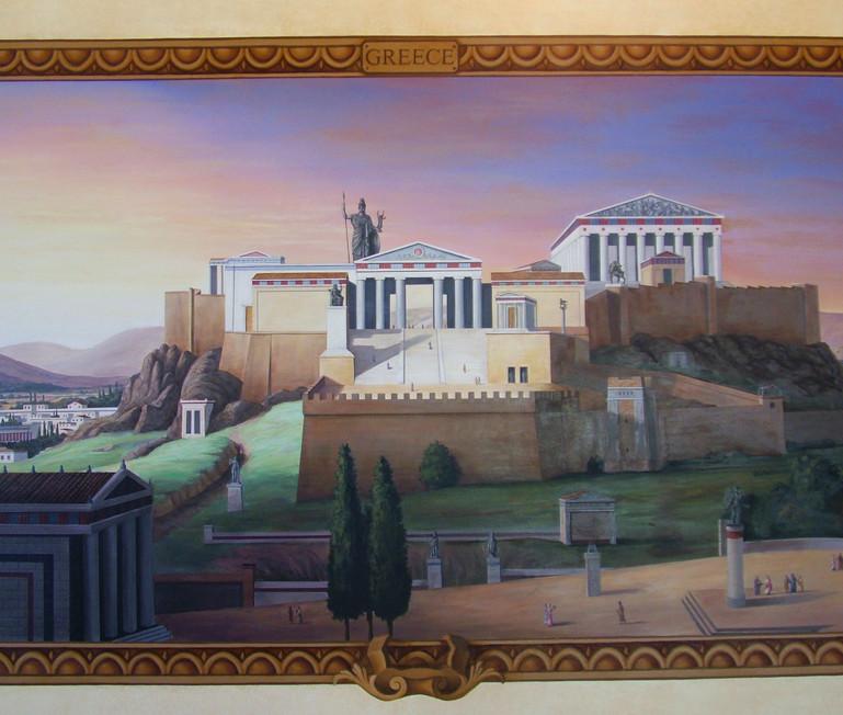 The Four Empires Mural Greek Landscape