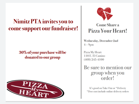 Dec 2: Nimitz Night at Pizza My Heart & Pinkberry