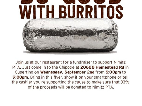 Sept 2: Chipotle Nimitz Night!