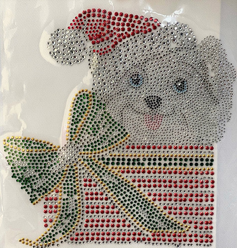 CRYSTAL APPLIQUE PUPPY GIFT
