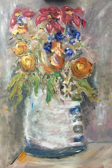 A Jug of Flowers (Study)