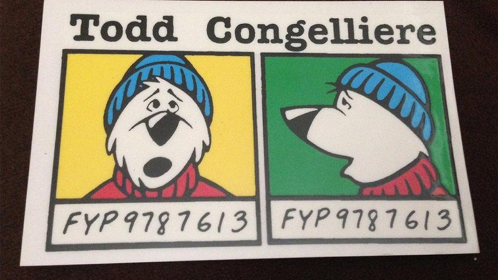 TODD CONGELLIERE - Mugshot (Sticker)