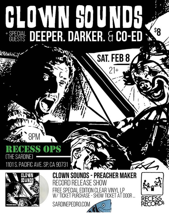Clown Sounds Record Release Tonight!